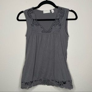 UO Kimchi & Blue Grey Lace Tank Top Size Small
